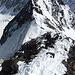 Blick über den kurzen Ostgrat auf die blanke Ruderhof - Nordwand