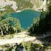 Salendo al Big Beehive, sullo sfondo il Lake Agnes