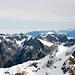 Rechts der Mitte der Krönten, links Gross Spannort… und das Nebelmeer…