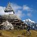 Alter Stupa oberhalb Namche Bazar.