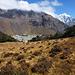 Khumjung auf etwa 3800 Metern liegt in einer flachen windgeschützten Senke