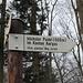 Schild zum höchsten Punkt auf dem Grat