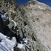 Blick von der Scharte zum Gipfel der Cima d'Asta