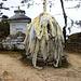 Tücher mit Gebeten und guten Wünschen an der Passhöhe zwischen Khumjung und Namche Bazar