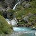 Une des nombreuses cascades qu'on voit en descendant à Klosters par la route