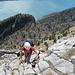 [u Esther58] am Ausstieg aus der Felszone hoch überm Vierwaldstättersee