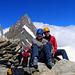 Gipfelfreuden auf dem Finsteraarrothorn… mit unserem morgigen Ziel im Hintergrund… Finsteraarhorn.
