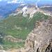 Blick vom Gipfel des Gross Spannort 3198m Richtung Norden. Weit unten ist Stäfeli erkennbar. Links oben Engelberg.
