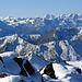 genialer Ausblick von der Finailspitze: rechts Ortler, links Königsspitze