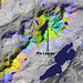 Falschfarben-Satellitenbild der Lagrev-Region