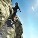Klettern in der 2. Seillänge von Mon âme est ravie