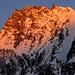 Rimpfischhorn im kalten Morgenglühen - dieses Ziel mussten wir auf Grund des kurzen Gutwetterfensters vertagen.