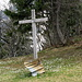 kurz hinter dem Kreuz an der Hürndlihütte bin ich schon aufgestiegen, da der Weg vollkommen zugeschneit war.