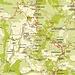 Unsere rot eingezweichnete Wanderung auf den mit 1952m höchsten Berg Zyperns, dem Όλυμπος - Χιονίστρα (Ólympos - Chionístra). <br />