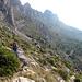 Blick zurück (ganz am Ende der Bergkette liegt der Durchschlupf)