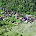 Tief unten das Dorf Beuson