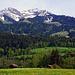 Drunengalm (Gipfel rechts) von Simmental aus her gesehen (Oey)