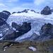 Die Abrüche des Gletschers und der Gipfel des Clariden vom Geissbützistock aus