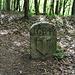 """An der Kantonsgrenze AG-ZH steht ein alter Grenzstein von 1642. Das """"B"""" über dem Badener Wappen meint die alte Grafschaft Baden."""
