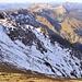 Blick in die doch recht hart gefrorene Nordseite des Anstieges - ich war froh Steigeisen mitgenommen zu haben...