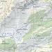 Karte, Jaunpass ca. 15min südlich von Bädermoos Pt1559