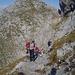 Kerstin kurz unterhalb des Gipfels.