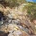 Il lungo traverso che porta sotto al Passo di Basagrana