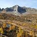 Herbstlich verfärbte Lärchen auf der Alpe Sovénat