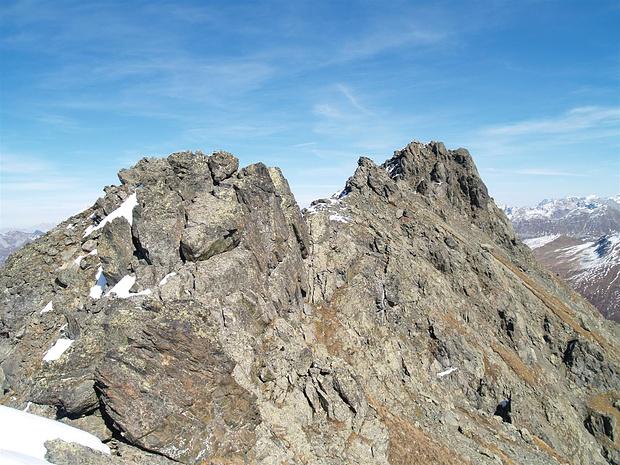 ...und dann noch über den Grat zum Gipfel