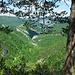 Aussicht vom Picknickplatz P911.9 in die Gorges du Pichoux