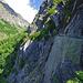 Immer wieder eindrücklich: die historische Oberschta wurde hier in den Fels gehauen.