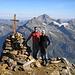 Stefan und ich auf dem Gipfel des Bristen 3073m