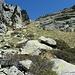 der Zugang zur Bocchetta di Catögn (2150 m)