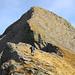 Il tratto alpinistico al Poncione Rosso, visto dai pressi della quota 2330 m