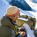 Petite pause avant d'attaque l'Arbenjoch - mer de brouillard sur Zermatt