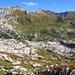 Blick übers steinerne Meer zu Pöngertlekopf und Gehrengrat
