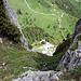 Blick nach unten zu unserem Auto, Alp Ramsere