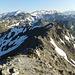 Der Aufstiegsgrat vom Gipfel