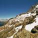 Blick zum Wetterhorn. Unten der Felszapfen des Chrinnenhorns.