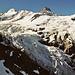 Beim Aufstieg zum Beesi Bärgli rücken die Eismassen des Oberen Grindelwaldgletschers immer näher.