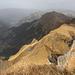 Blick zu Tschuggen und Männlichen, im Tal Wengen