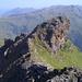Blick vom sehr selten bestiegenen Gulderturm hinunter zu Harrie-Jan and den Gipfel des Gulderstocks
