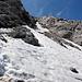 Scendiamo dalla cresta per ricollegarci al sentiero che sale dal Rifugio Bogani