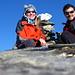Gipfelfoto mit meiner Ehefrau [U Tanja] und [U Cyrill]
