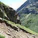 Der Abstieg in die Val Bever ist mit einer Ausnahme (siehe Bild, etwa bei P. 2245) durchgehend rennbar.