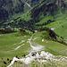"""Blick nach unten auf dem Bergweg """"Gantrisch -Stockhorn"""""""