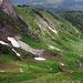 Abstieg vom Schwalmerenpass Richtung Gustiberg