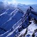 Winterlicher Blick auf den Ostgrat von Höch Hund und den Bös Fulen