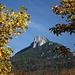 Blick von Fuschl hinauf zum Gipfel (den Frauenkopf, der Schober ist nicht zu sehen, sondern dahinter versteckt)