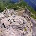 Der Blick vom Gipfel zurück über die Lobhörner